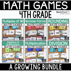 4th grade guided math games for math stations