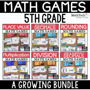 5th grade guided math games for math workshop