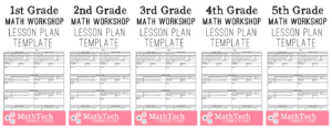 Math Workshop Lesson Plan Templates