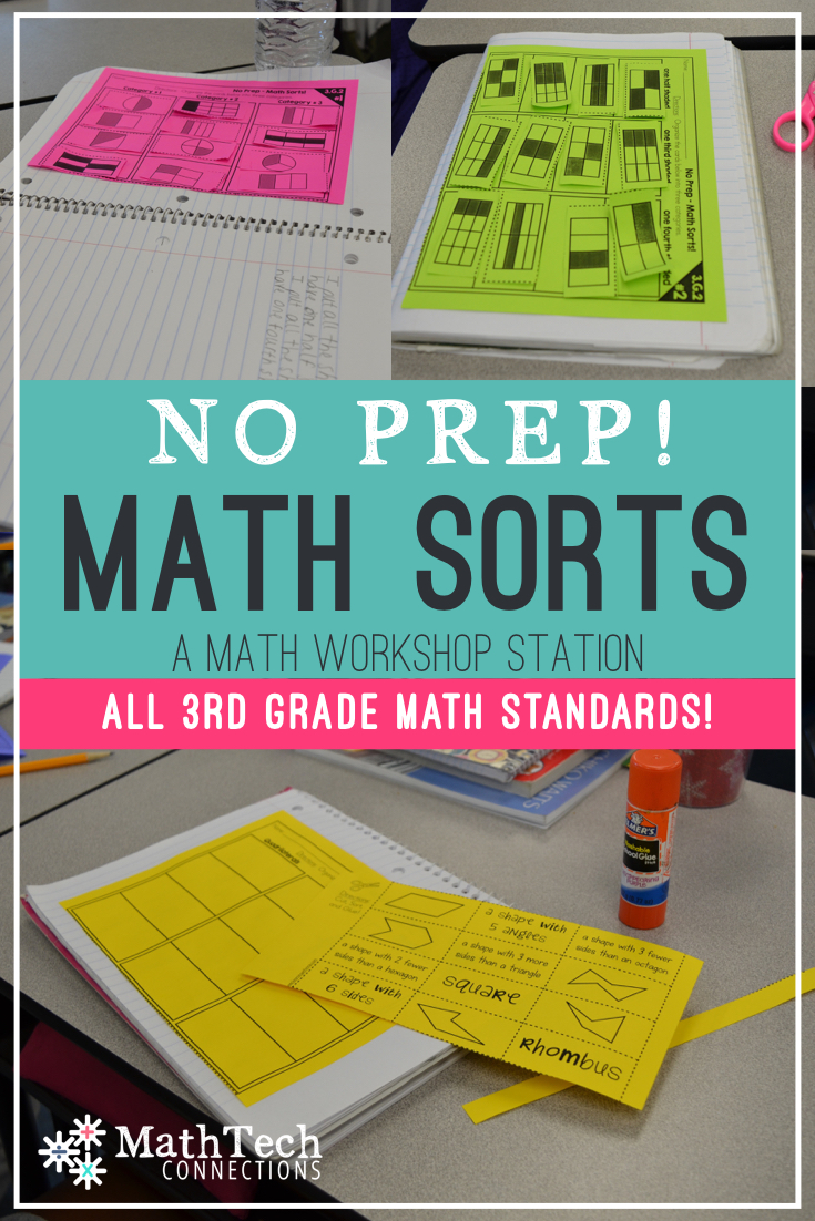 Math Sorts – A Math Workshop Station