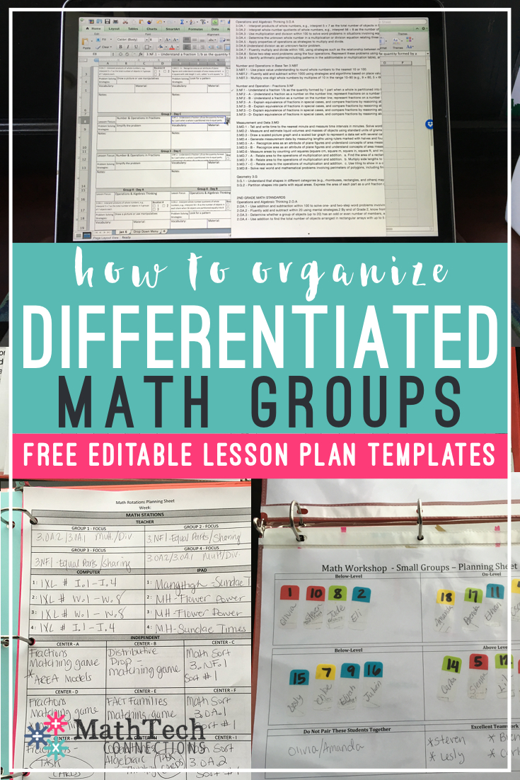 How to Plan & Organize Differentiated Math Groups