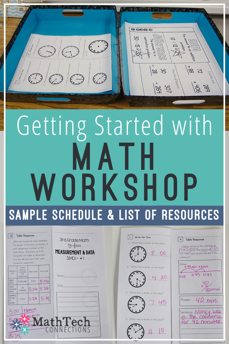 math workshop sample schedule and resources