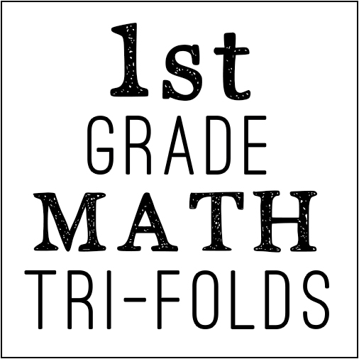 math tri-folds 1st grade