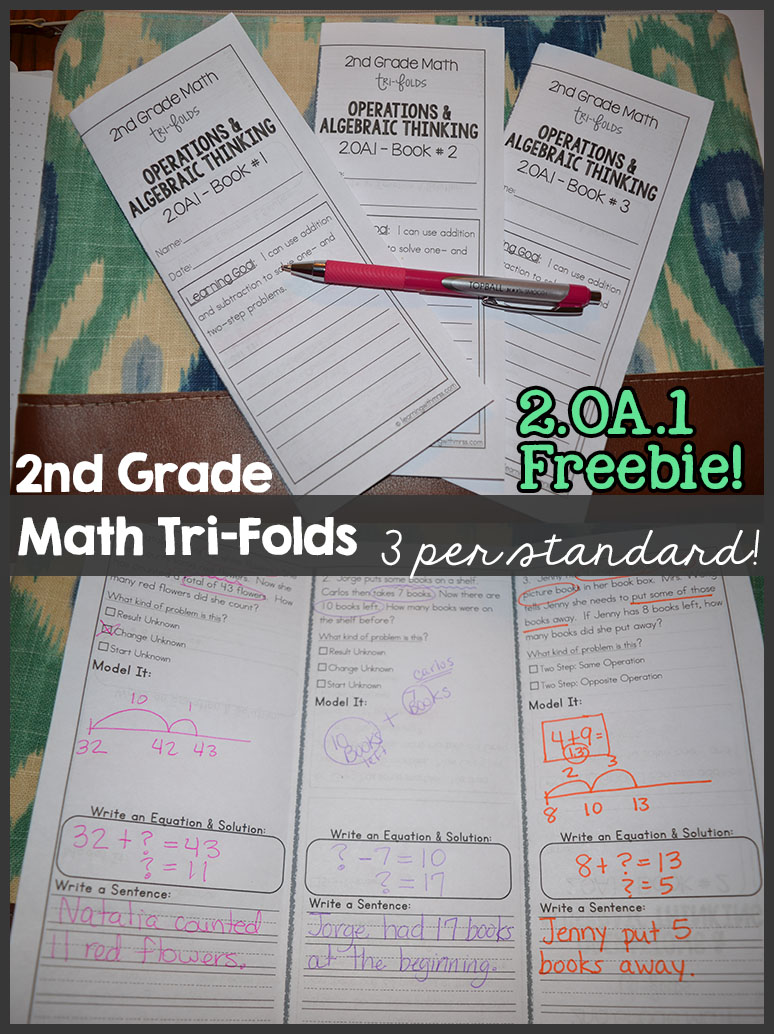 2nd Grade – Common Core Math Tri-Folds