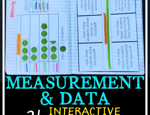 Measurement and Data Interactive Notebook with Math Menus