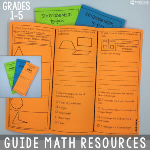 guided math resources for elementary - math workshop resources