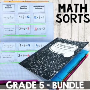 math sorts grade 5