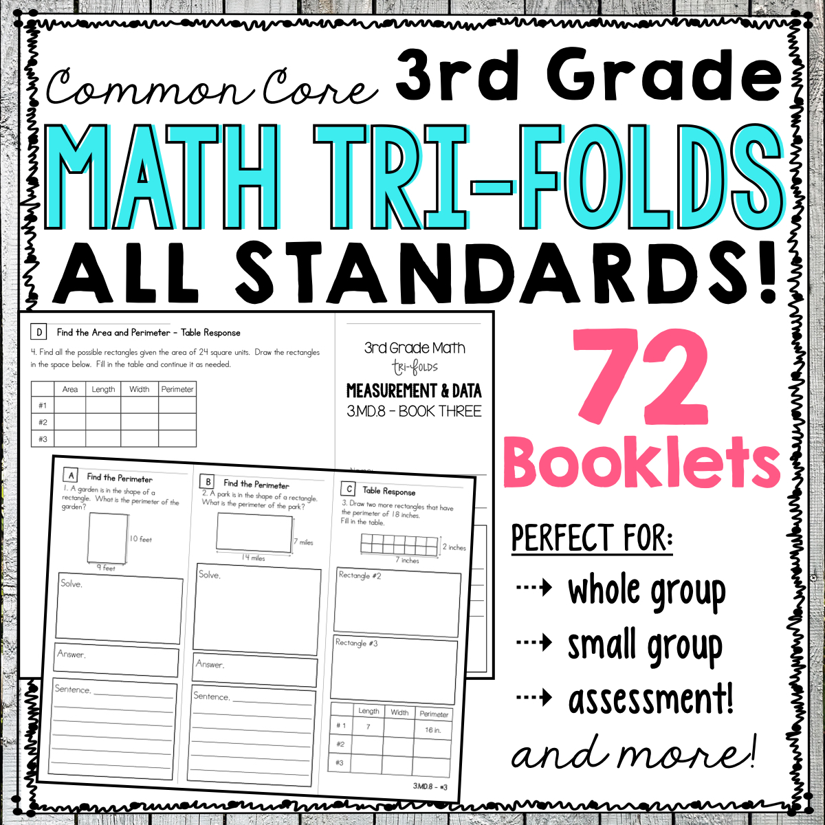 third grade common core math, guided math resources