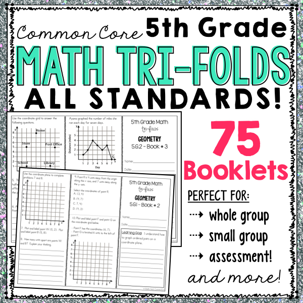 fifth grade common core math, guided math resources