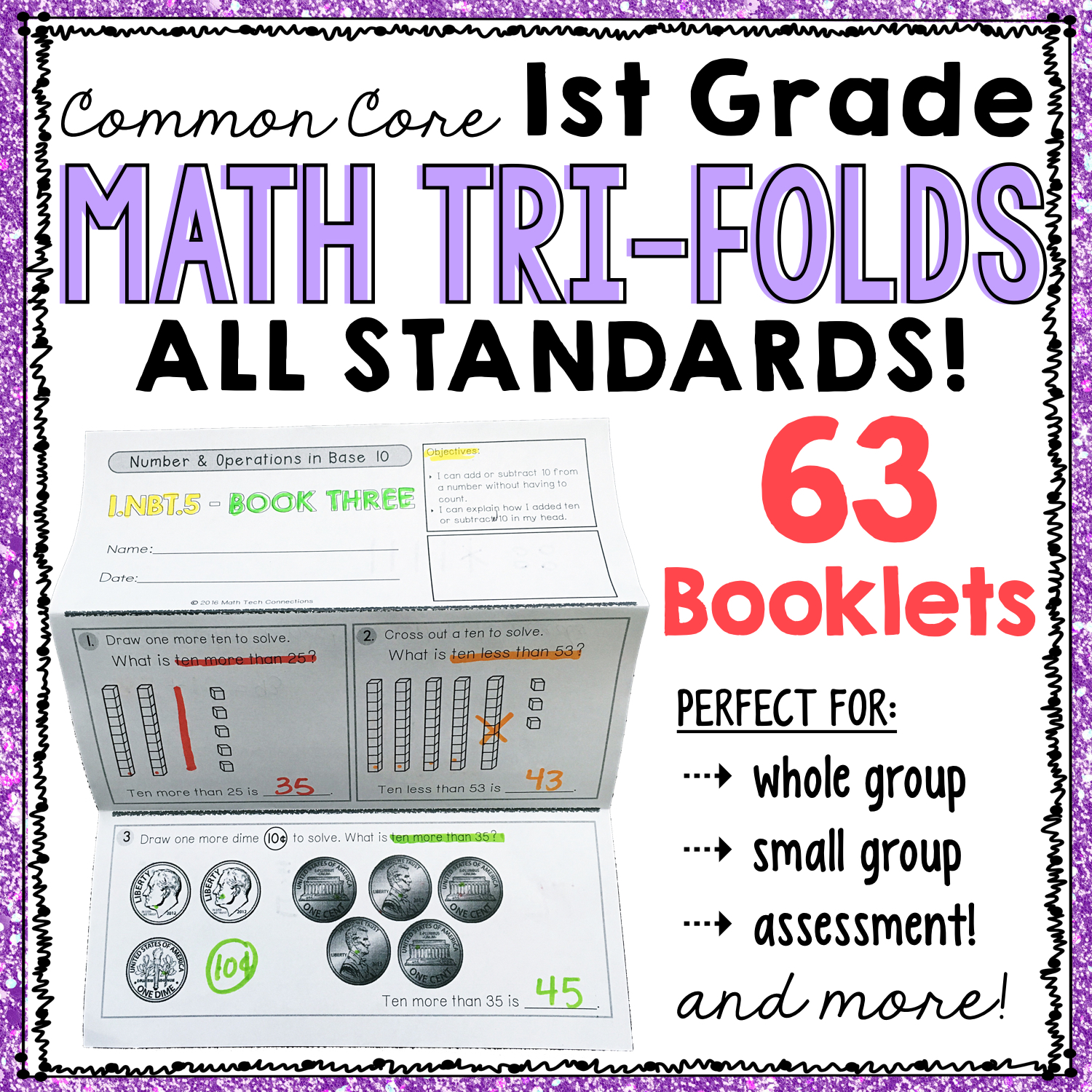 first grade common core math, guided math resources