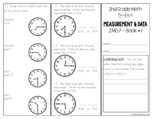 2nd grade telling time resources