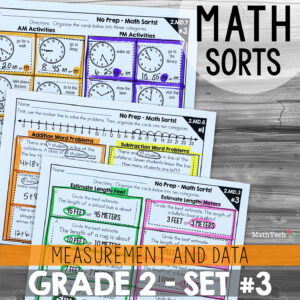 2nd Math Sorts for Measurement and Data