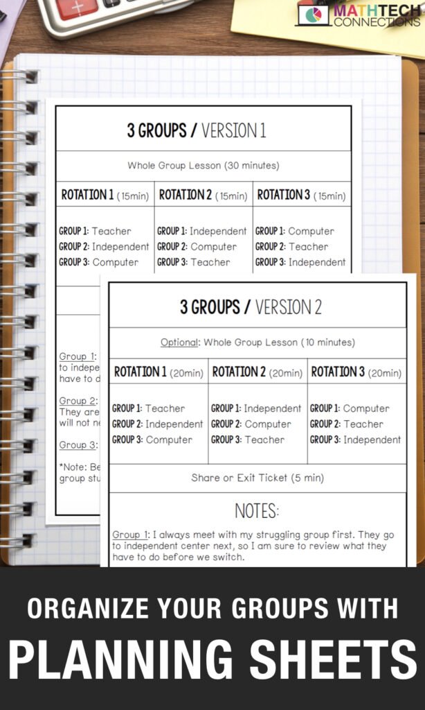 Math Workshop - How to decided if you want to manage 3 or 4 math groups