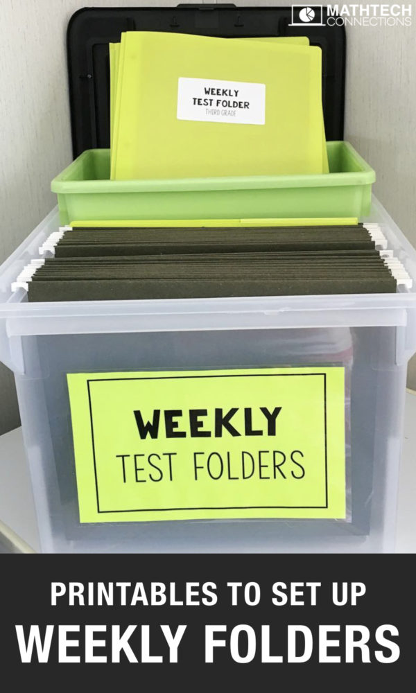set up weekly test folders - free printables to set up daily take home folders - upper elementary weekly behavior report template for free