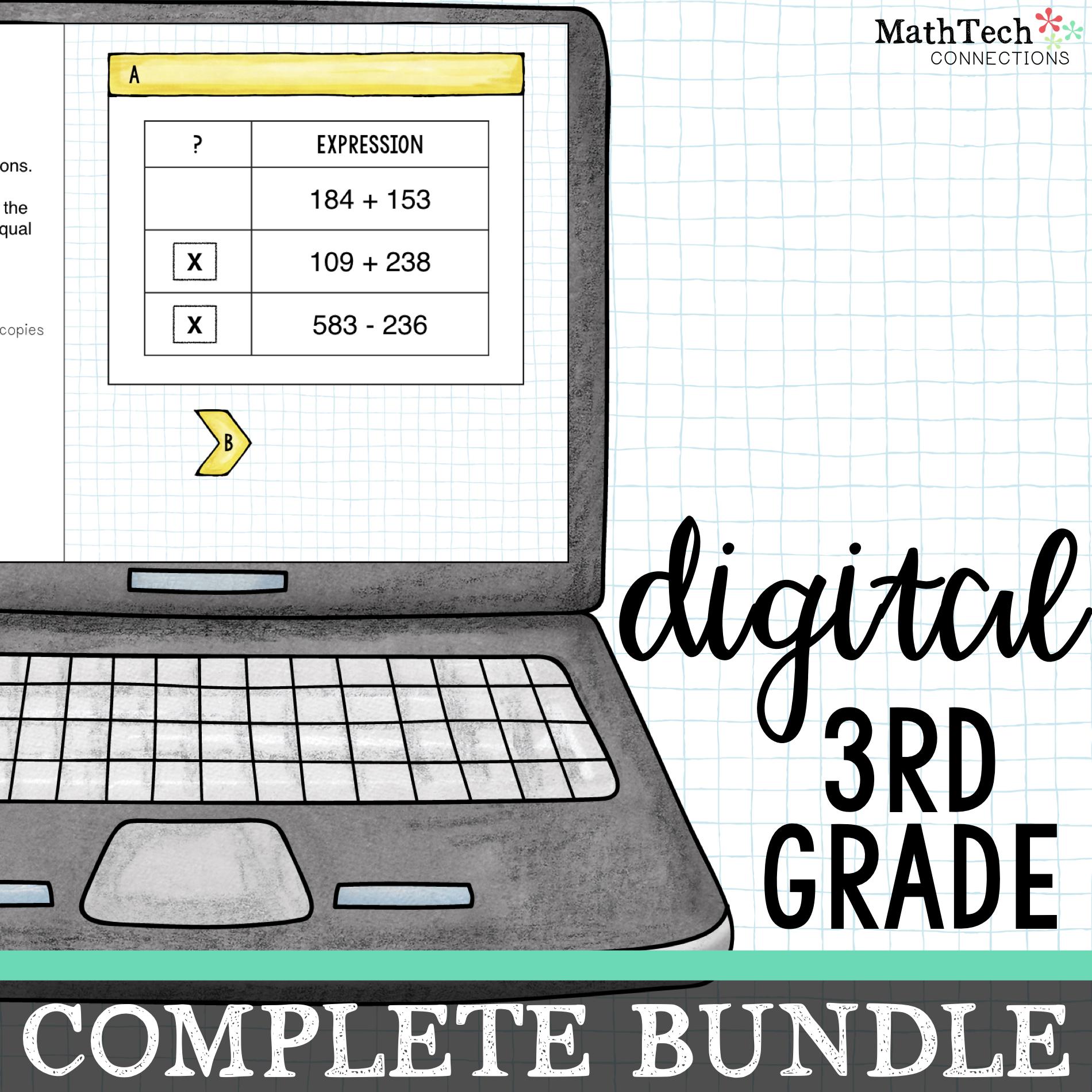 Digital Math Resources for 3rd Grade Google Classroom