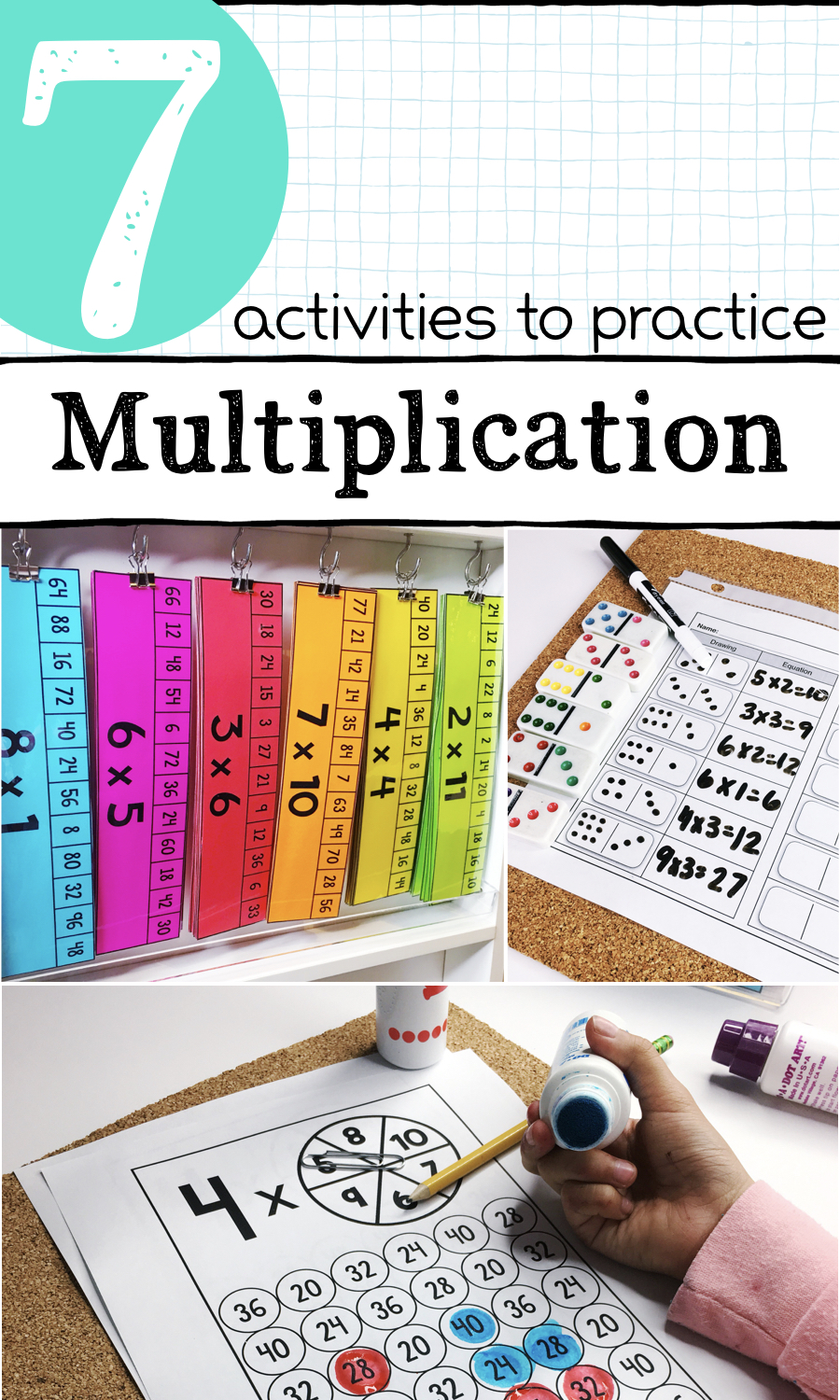 7 activities to practice multiplication