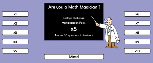 free fact fluency website - practice with this time multiplication game