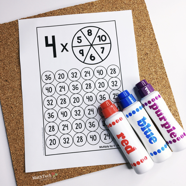 Download 5 free Multiplication Practice Games, Free Multiplication printables for math centers, Fact Fluency math games