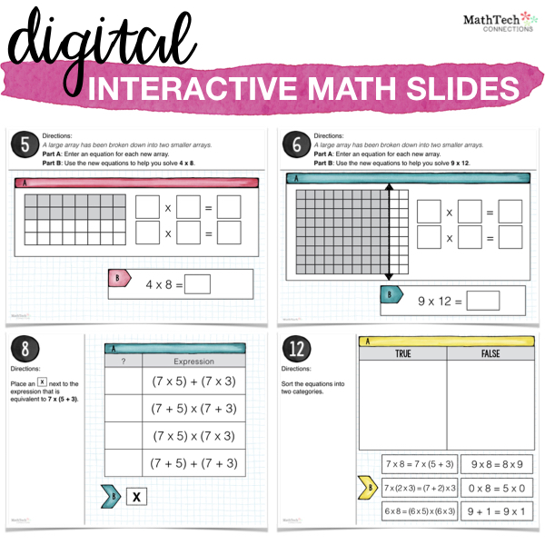 Free Distributive of Multiplication Math Printable. Download free resources to review multiplication. Third grade digital math centers for use with google classroom or power point.