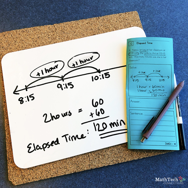 Elapsed Time Anchor Chart and Free Activities for your Third Grade Math Classroom