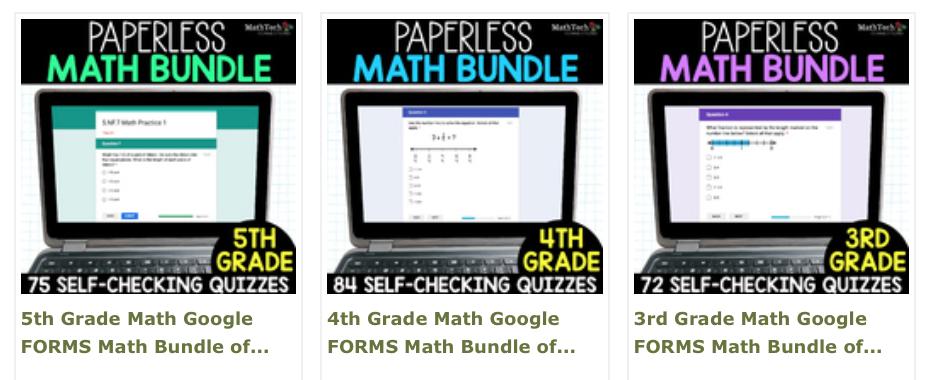 3rd-5th grade paperless math assessments