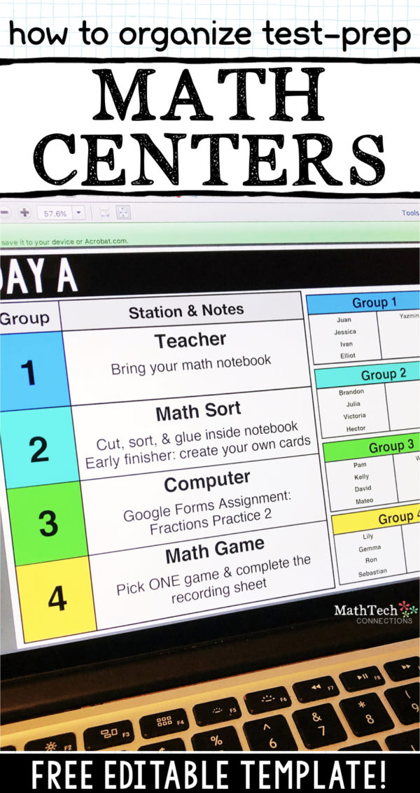 How to organize and plan test prep math centers for third grade, fourth grade, or fifth grade students. Math Test-Prep Stations for Math Workshop will help students prepare for end of the year state testing