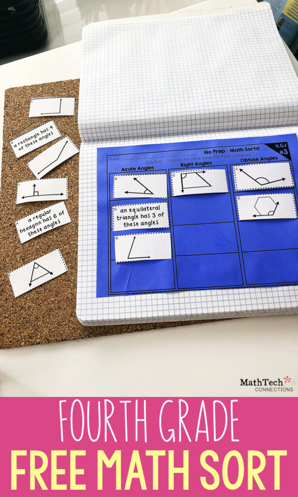 4th Grade Math Activity - Free Fourth Grade Math Sorting Activity - Perfect math center or test prep review