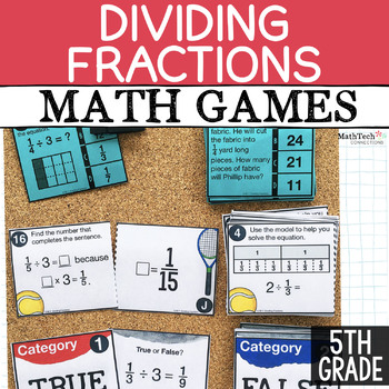Free Dividing Fractions Math Games