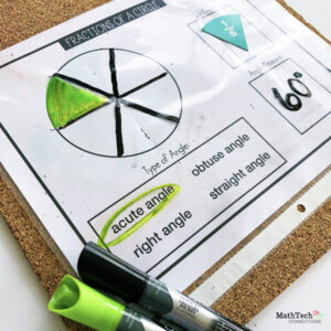 Review Types of Angles using Unit Fractions. Types of Angles introduction Activity and Small Group Activity. Free measuring angles resource. Free types of angles bookmark printable