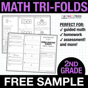 second grade guided math small group instruction resources - free sample