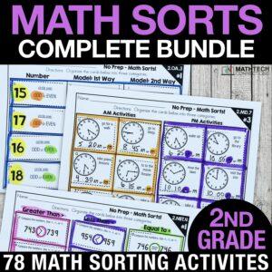 2nd grade math sorts for math centers