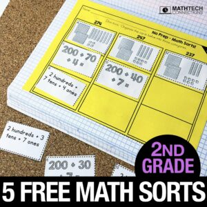Free 2nd Grade Math Sorting Activities for Math Workshop