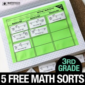 Free 3rd Grade Math Sorting Activities for Math Workshop
