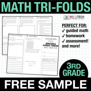 third grade guided math small group instruction resources - free sample