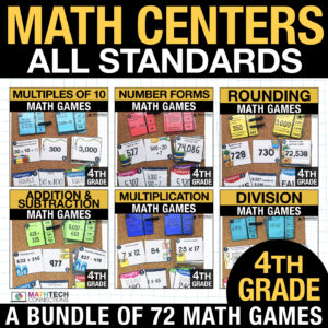 fourth grade math centers