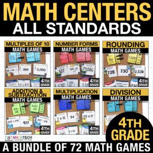 fourth grade math centers