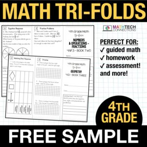 fourth grade guided math small group instruction resources - free sample
