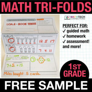 first grade guided math small group instruction resources - free sample
