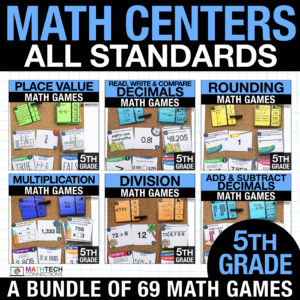 fifth grade math centers