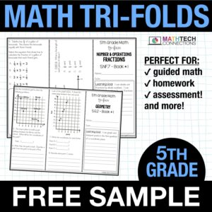 fifth grade guided math small group instruction resources - free sample