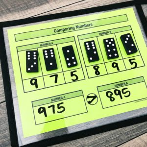 Review place value addition and subtraction with 3rd and 4th grade students. Use base ten blocks or place value disks to review addition and subtraction. Free Place Value resources for guided math groups.