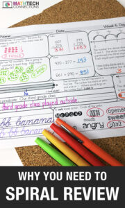 Free Spiral Review Sample for 3rd grade, Daily Spiral Math Review for Upper Elementary, Review all math standards with morning work.