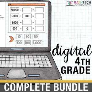 fourth grade digital math resources for google classroom. google slides for math centers