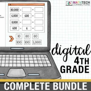 fourth grade digital math resources for google classroom. google slides for math centers