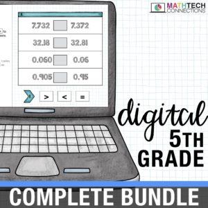 fifth grade digital math resources for google classroom. google slides for math centers