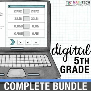 fifth grade digital math resources for google classroom. google slides for math centers