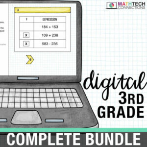 third grade digital math resources for google classroom. google slides for math centers