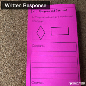 Written Response Guided Math Resources - Free Sample Common Core Test Prep and Guided Math Workshop practice