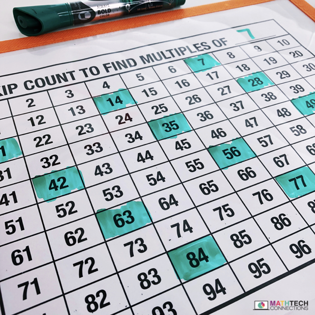 skip counting worksheet - free multiples printable for small group instruction