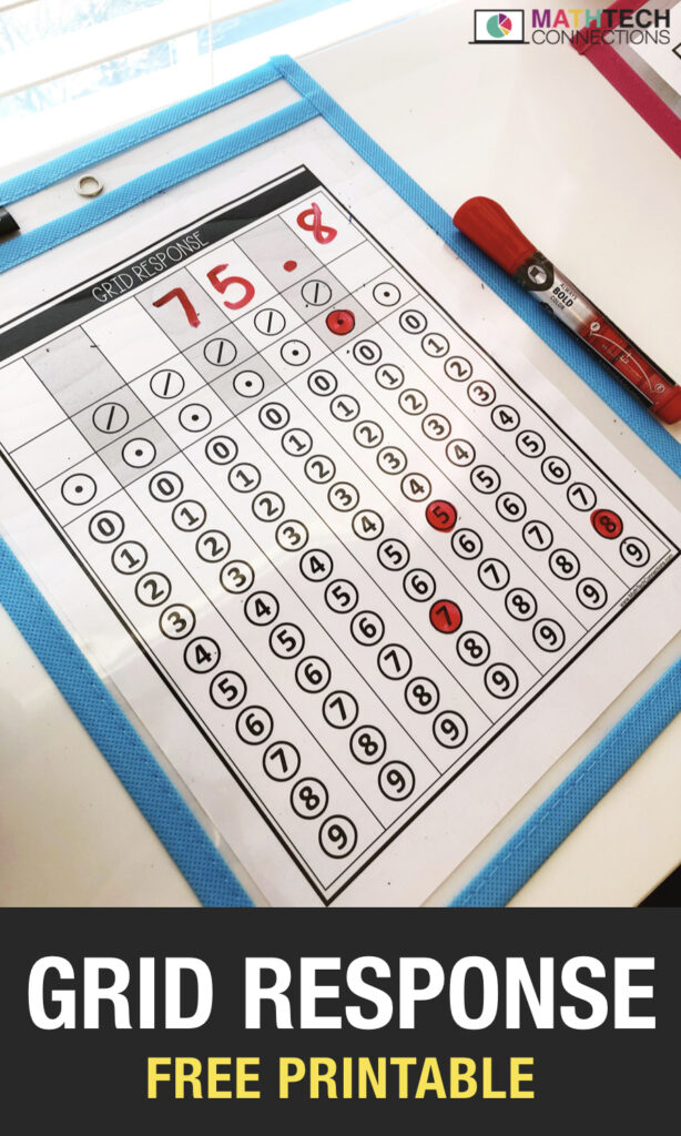 Grid Response Free Printable for Test Prep - Math Test Prep printable to practice grid response questions